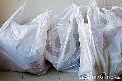 Plastic shopping bags Stock Photo
