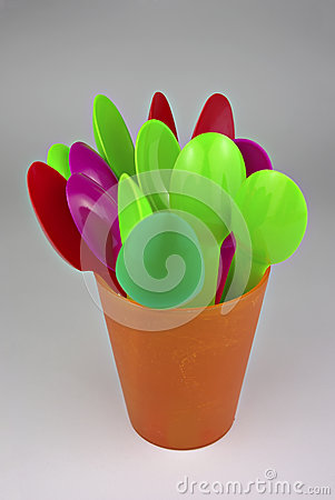 Free Plastic Spoons Royalty Free Stock Images - 47670829