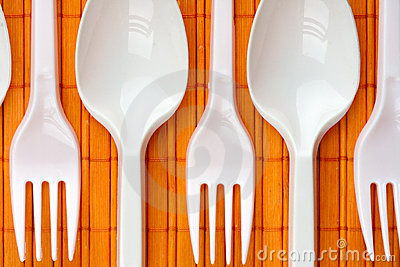 Plastic spoons and forks