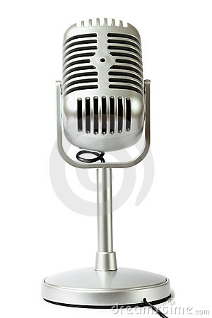 Plastic studio microphone metallic color