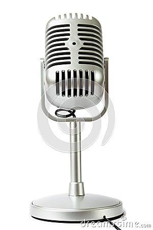 Plastic studio microphone metallic color