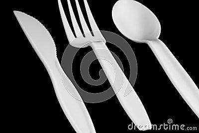 Plastic tableware Stock Photo
