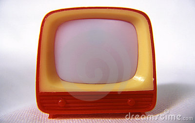 Plastic television Stock Photo