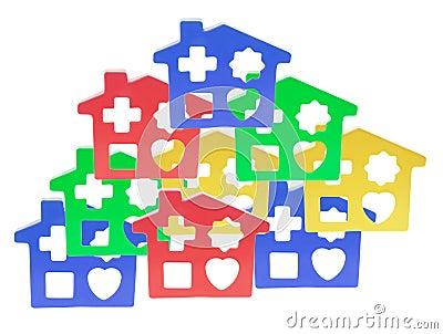 Plastic Toy Houses