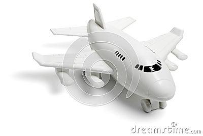 Plastic toy jet plane