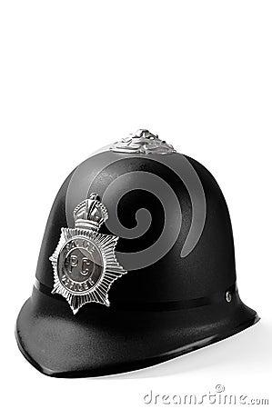Plastic toy police helmet