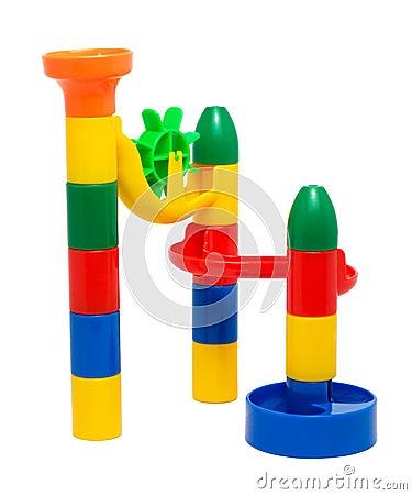 Plastic toy slide