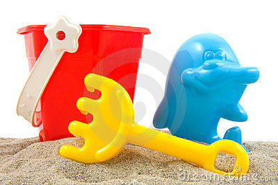 PLastic toys for beach and vacation