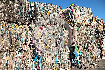 Plastic trash for reuse