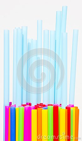 Plastic tube variety of colors.