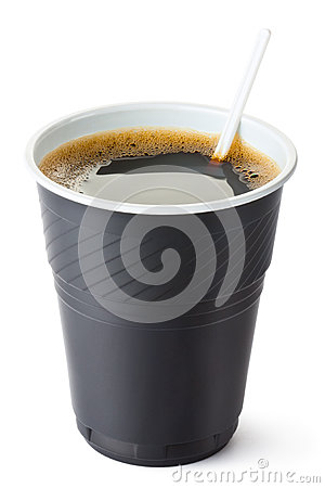 Plastic vending coffee cup