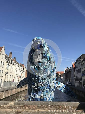 Free Plastic Whale At Bruges Stock Photography - 130705942