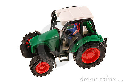 Plastic wheeled tractor toy