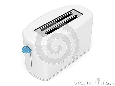 Plastic white toaster