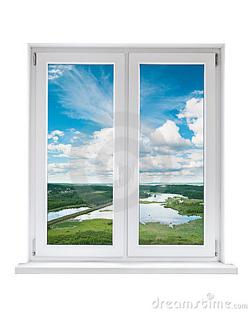 Plastic Window With View To Landscape Royalty Free Stock Photography ...  Window