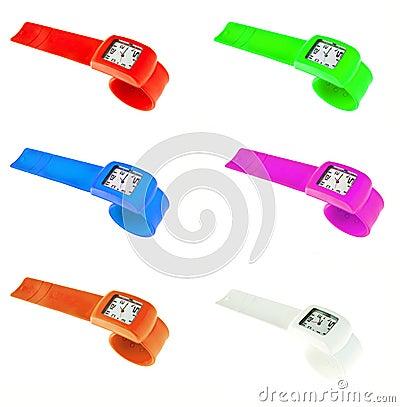 Plastic wrist watches
