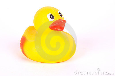 Plastic yellow duck toy