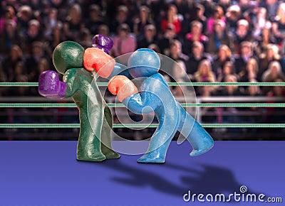 Plasticine boxers