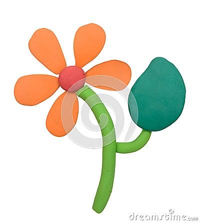 Free Plasticine Clay Flower Stock Photography - 44767552
