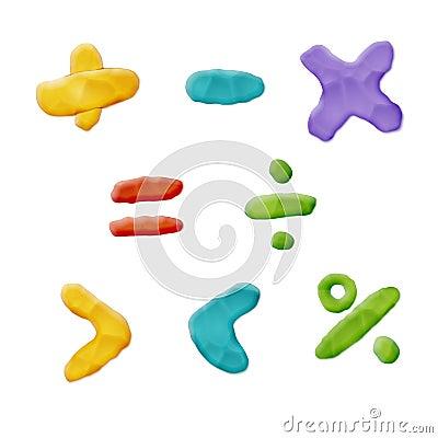 Free Plasticine Clay Math Royalty Free Stock Photo - 91703505