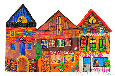 Plasticine colored house