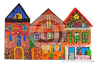 Plasticine colored house