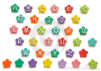 Plasticine cute alphabet