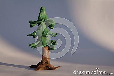 Plasticine fir tree