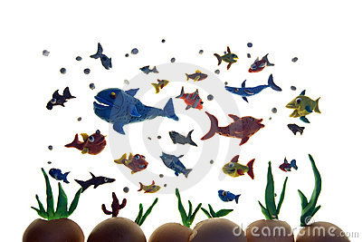 Plasticine fishes