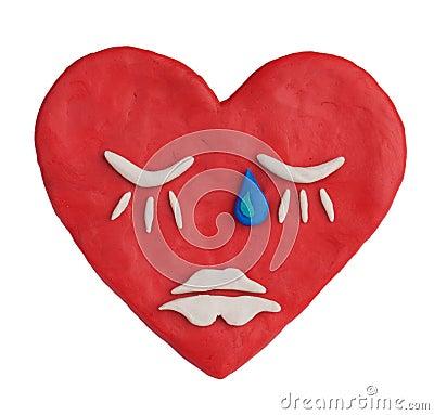 Plasticine heart depicting a deep sleep