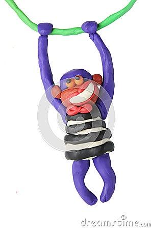 Free Plasticine Smiling Monkey Stock Image - 26171331
