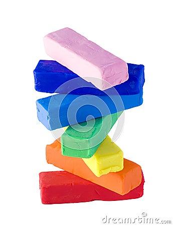 Plasticine stack