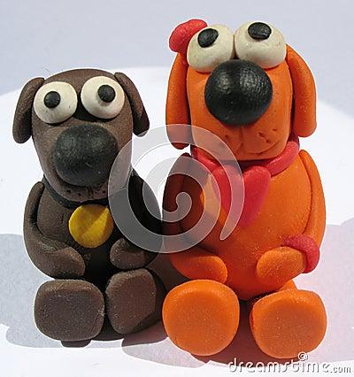 A plasticine toys. Handmade