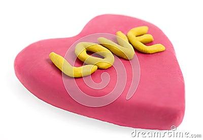Plasticine valentine
