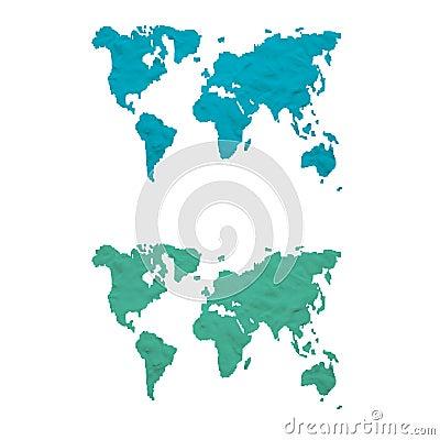 Plasticine world map