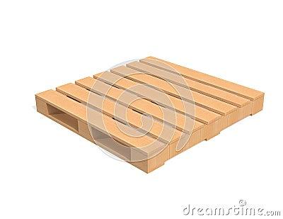 Plataforma de madera del envío