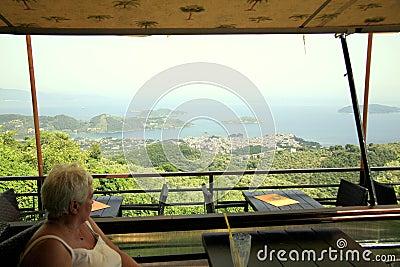 Platanos restaurant view, Skiathos.