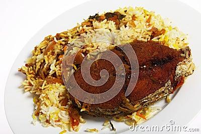 Plate of Arab fish majboos