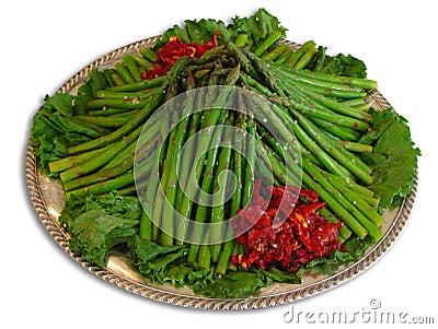 Plate of asparagus