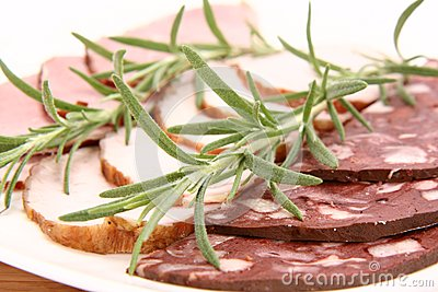 Plate of assorted cold cuts