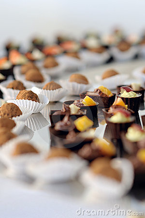 A plate with assorted delicious sweets