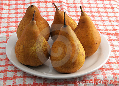 Plate with bosc pears