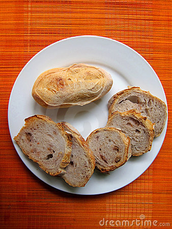 Plate of bread