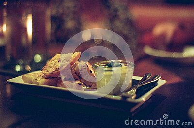 Plate With Bread And Dip Free Public Domain Cc0 Image