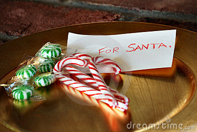 Plate of candy for Santa Claus