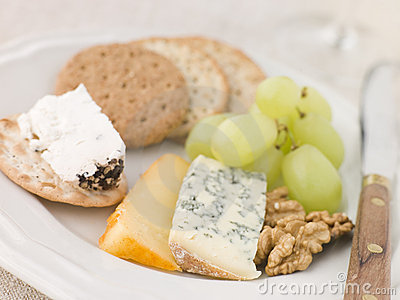 Plate of Cheese and Biscuits