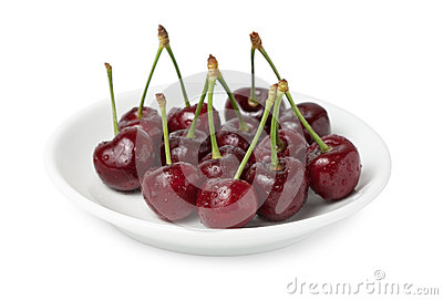 Plate with cherry