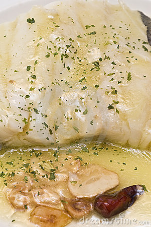 A plate of cod.