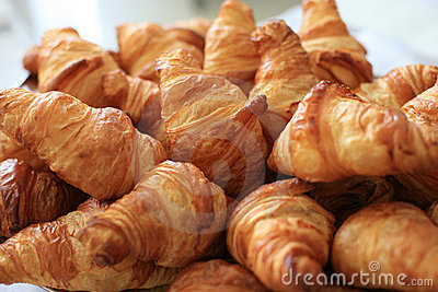 Plate with croissants