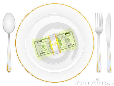 Plate cutlery and dollar pack